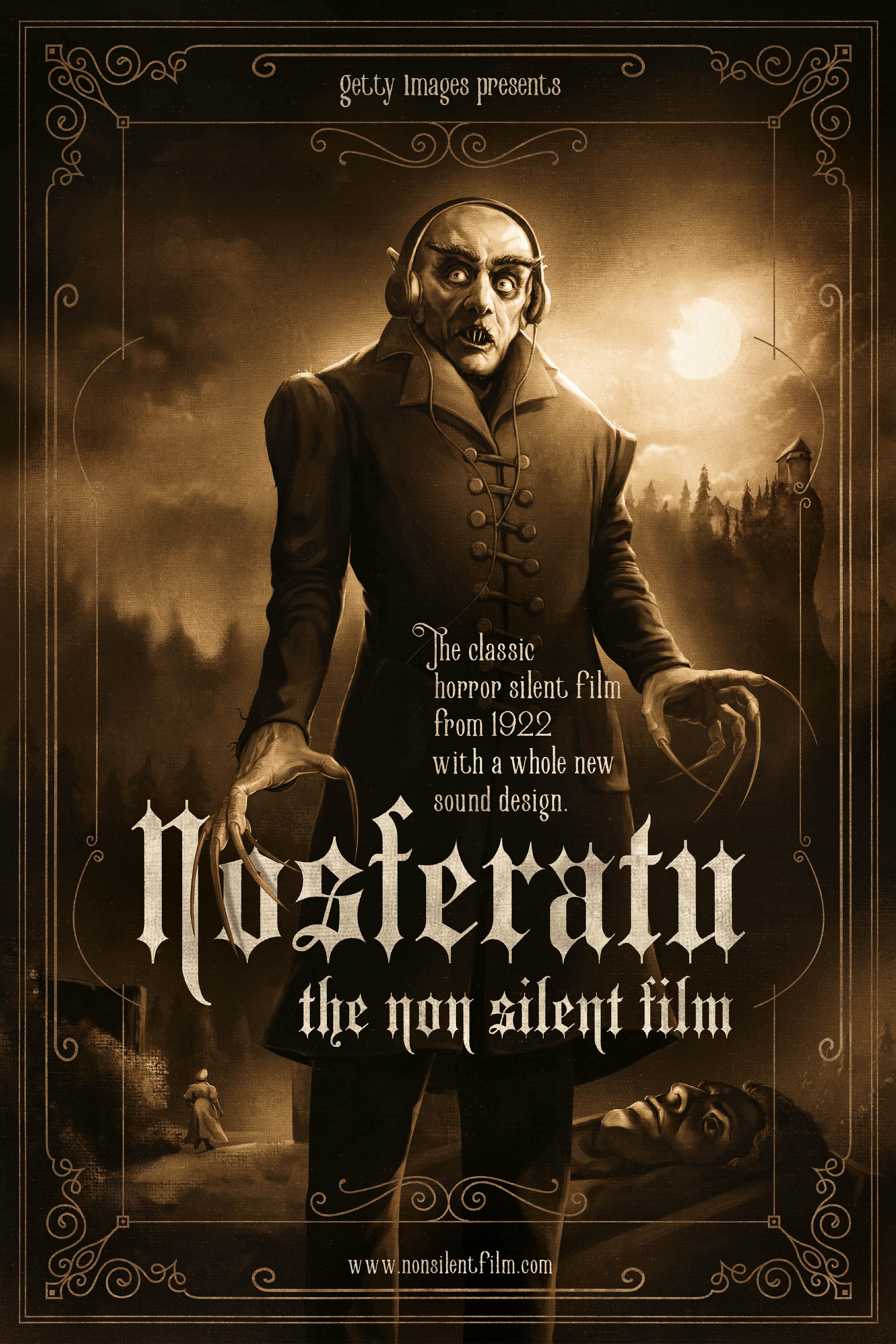 Nosferatu the Nonsilent Film poster by Black Madre Atelier, 2017