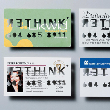 Recycled business card