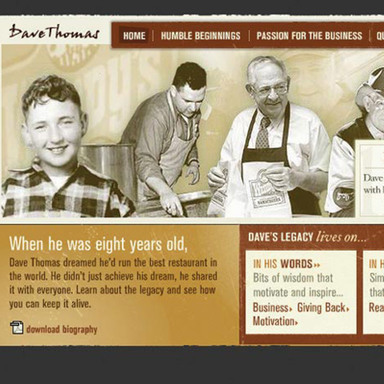 Dave Thomas Tribute Site