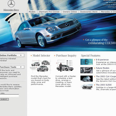 Mercedes-Benz USA 2002 E-Experience