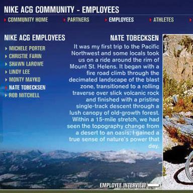 Nike ACG Brand Site