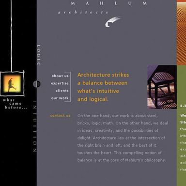 Mahlum Architects Web Site