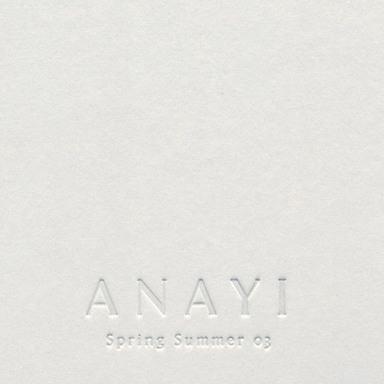 ANAYI/Spring Summer 2003