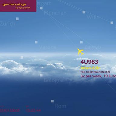 The Germanwings Realtime Screensaver