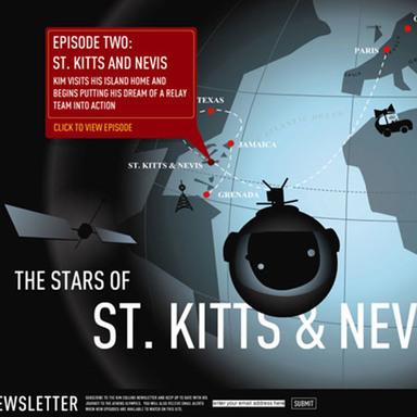 The stars of St. Kitts & Nevis
