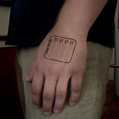 Hand Stamp - Name/Number