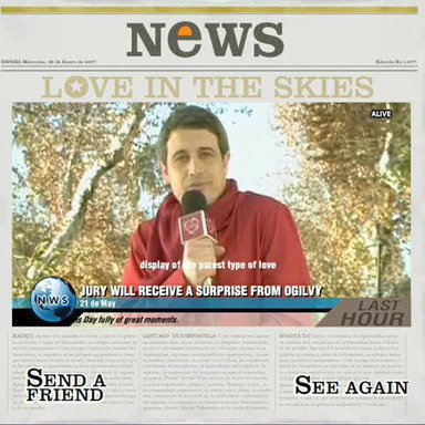 Appear on the news