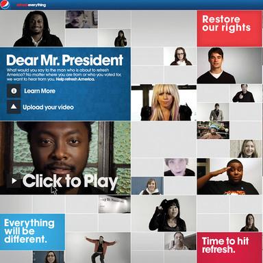 Pepsi Dear Mr. President Text Banner