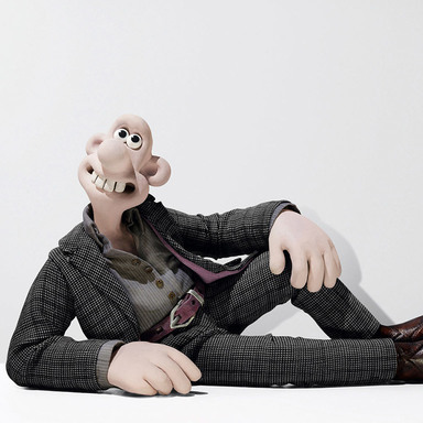 Wallace in Alexander McQueen & Gromit in Paul Smith