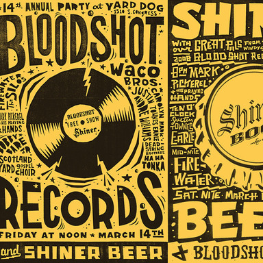 SXSW Bloodshot Records Poster