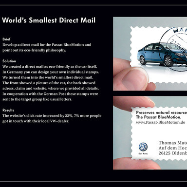 The world's smallest direct mailing