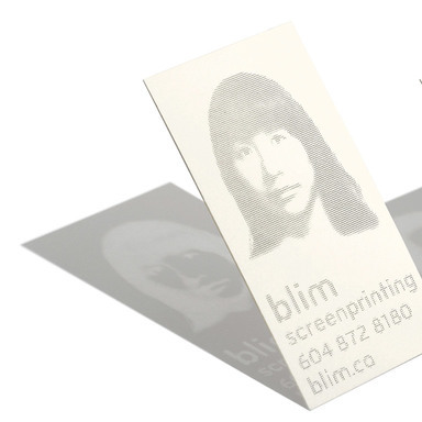 Blim Screenprinting Business Cards