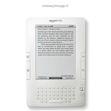 Cont'd onto Kindle