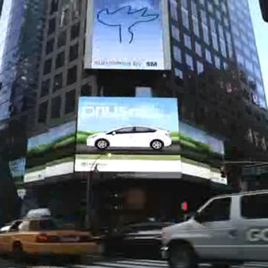 Prius iPhone Times Square App