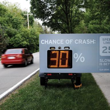 Speedometer Sign