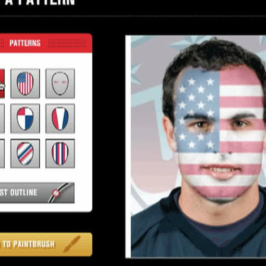 Bud United/Paint Your Face App