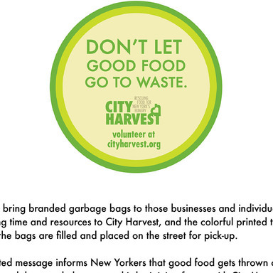 Trash Bags: Don't Let Good Food Go To Waste.