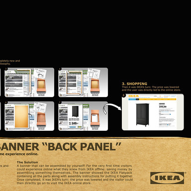 IKEA. Unbox the banner: Back Panel