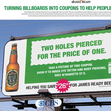 James Ready Coupon Billboard -