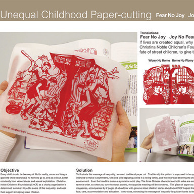 Unequal Childhood Paper-cutting Campaign