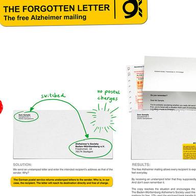 THE FORGOTTEN LETTER - The free Alzheimer mailing