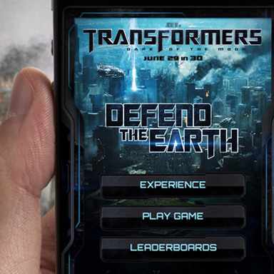 Transformers: Dark of the Moon Augmented Reality App