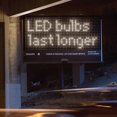 LED Bulb Billboard