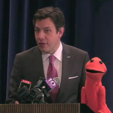 Doug, the Orange Spokespuppet