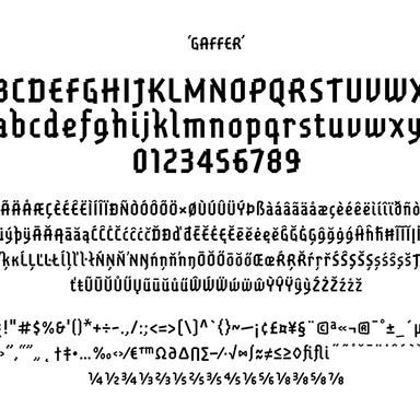 Gaffer Font