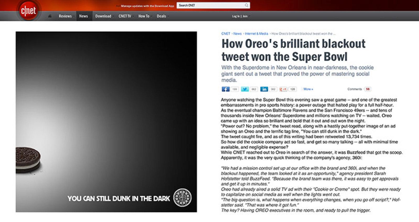 The OREO Blackout Tweet