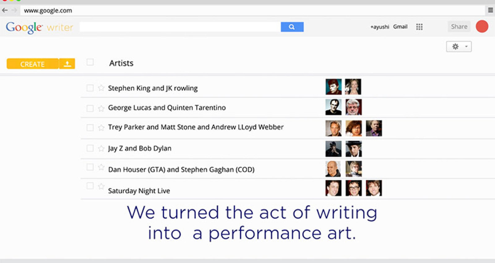 GoogleWriter