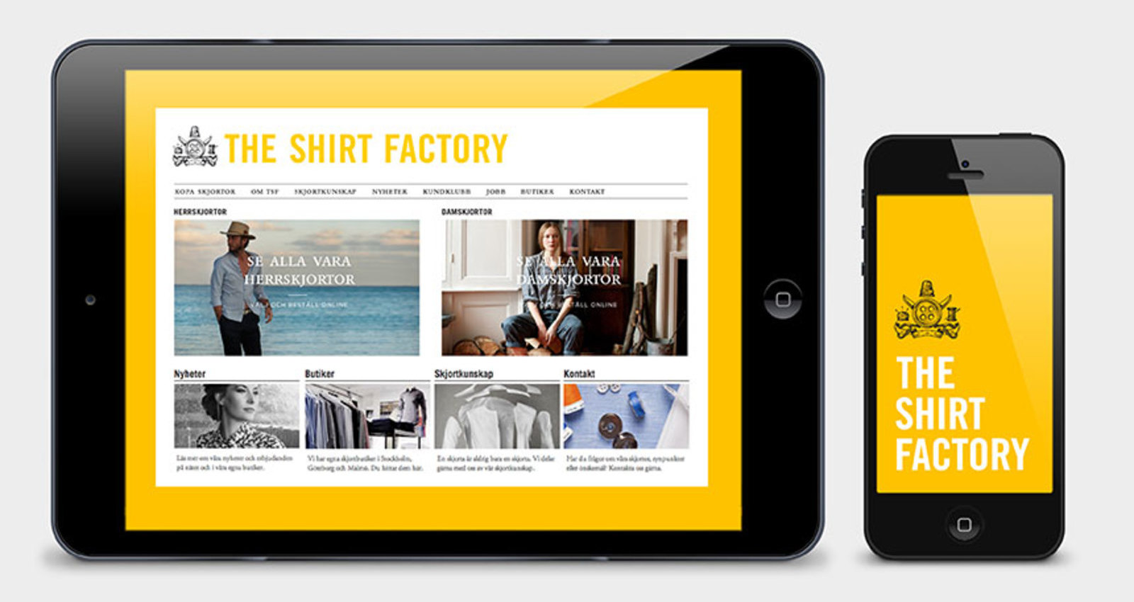 The Shirt Factory redesign
