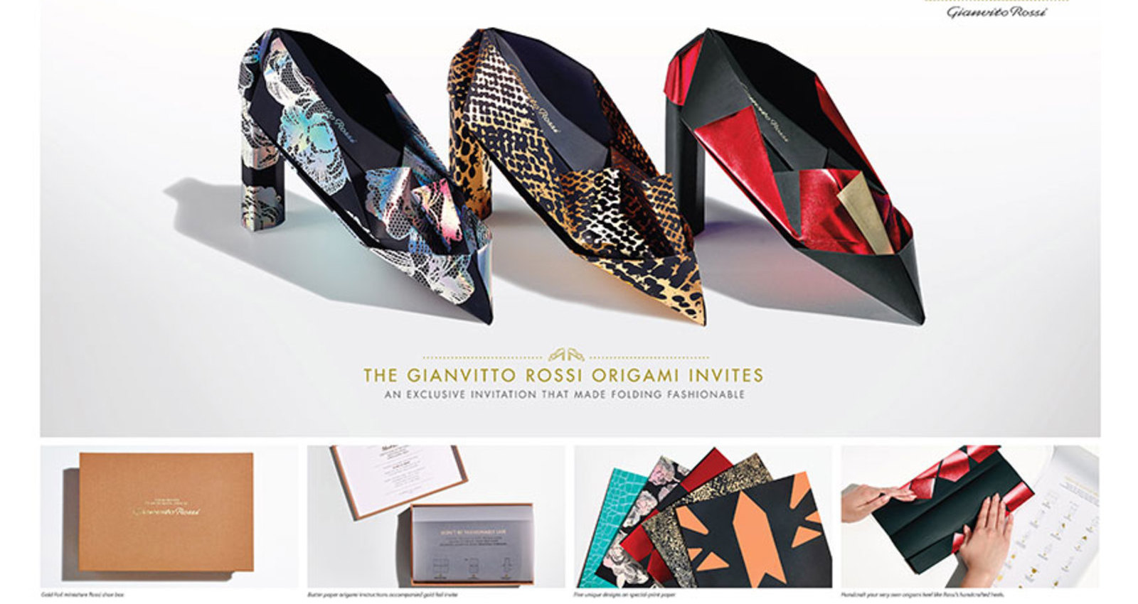 Gianvito Rossi Origami Invites