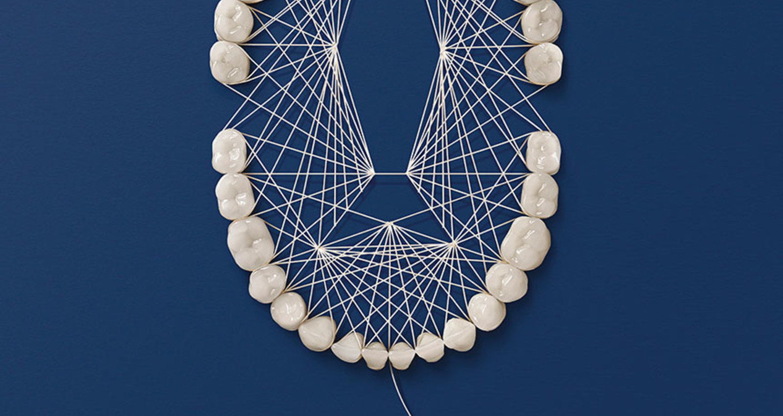 Dental Floss Art Campaign