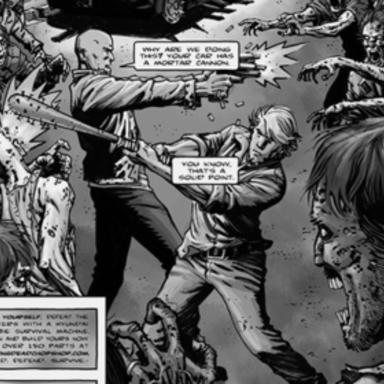 The Walking Dead Chop Shop Comic Book Prints
