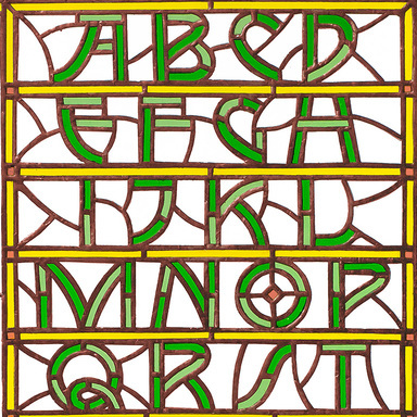 Alphabet in Stained Glass