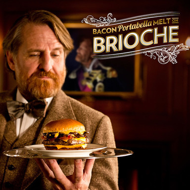 Wendy's Bacon Portabella Melt on Brioche Campaign