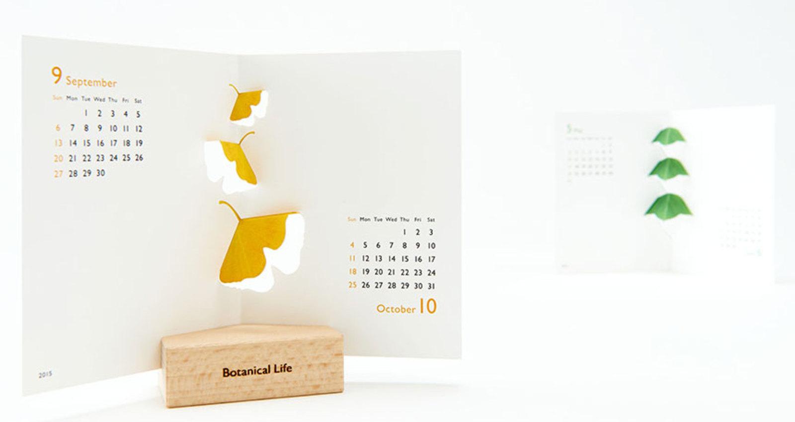 good morning original calendar: Botanical Life