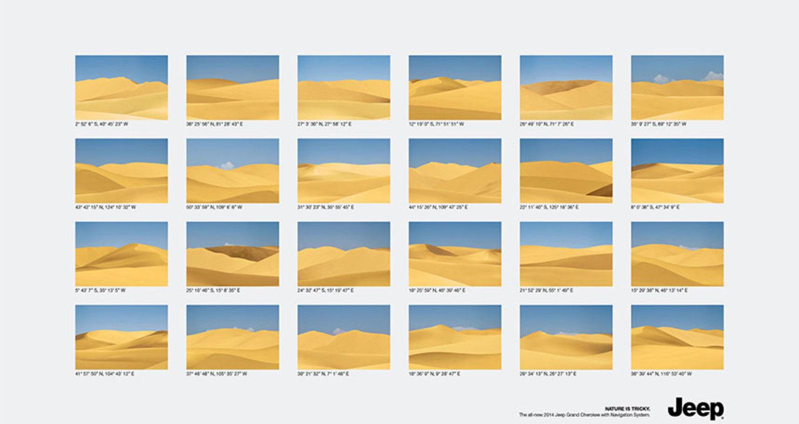 Coordinates: Deserts