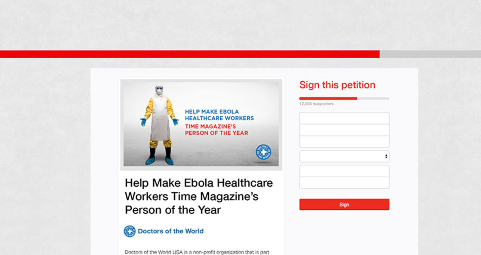 Getting Ebola Fighters on the Cover of Time