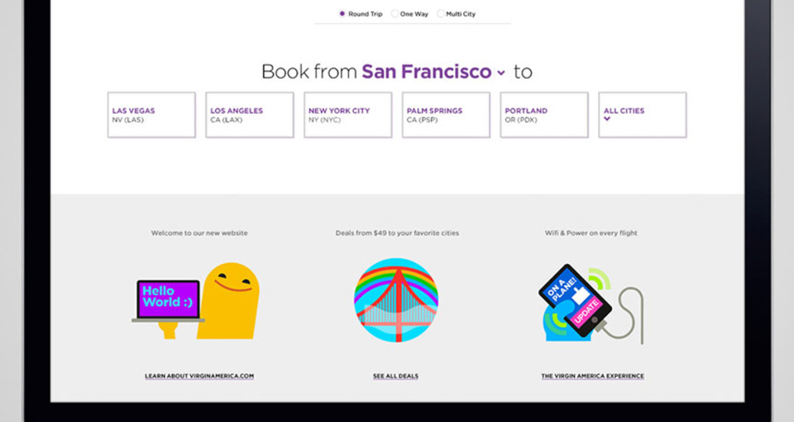 Virgin America - Responsive Website Redesign