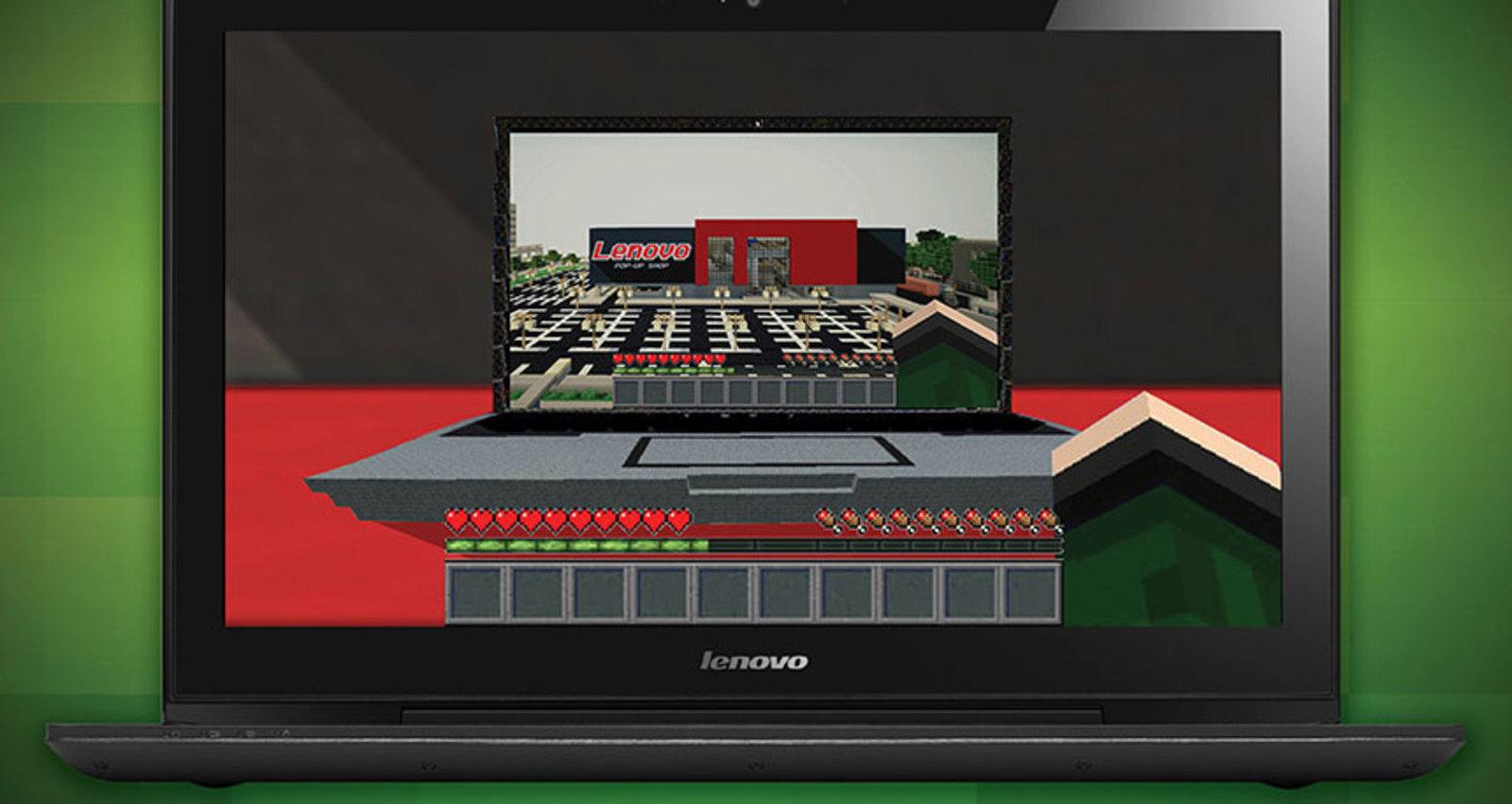 Minecraft Lenovo Digital Pop-Up Shop