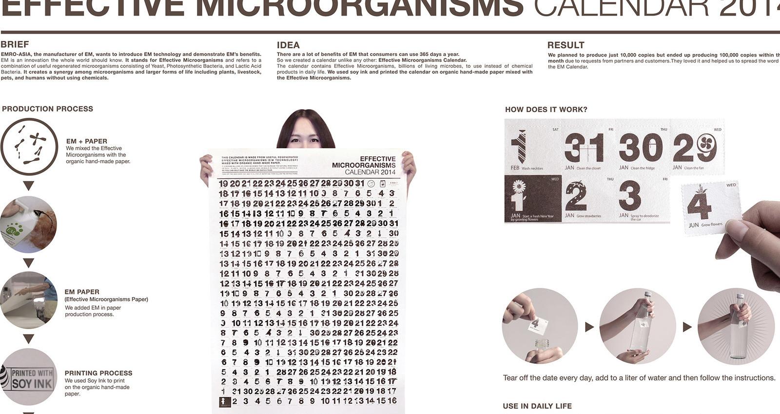 EFFECTIVE MICROORGANISMS CALENDAR