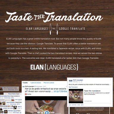 ELAN Taste the Translation