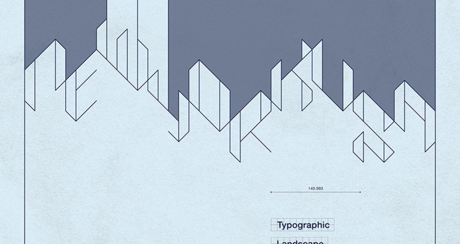 Blueprint of Typographic Landscape