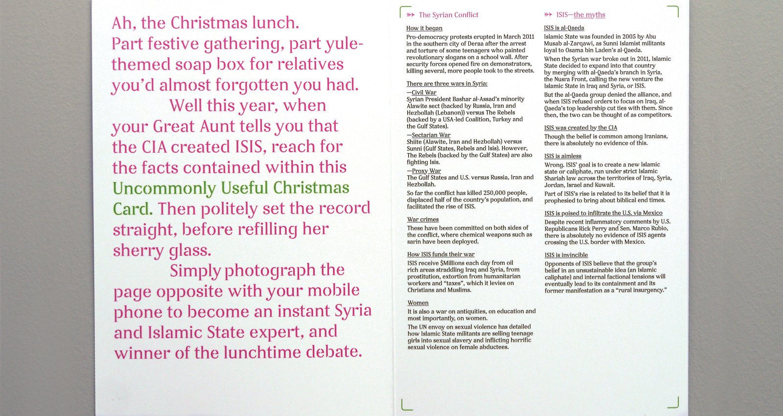 Uncommonly Useful Christmas Cards