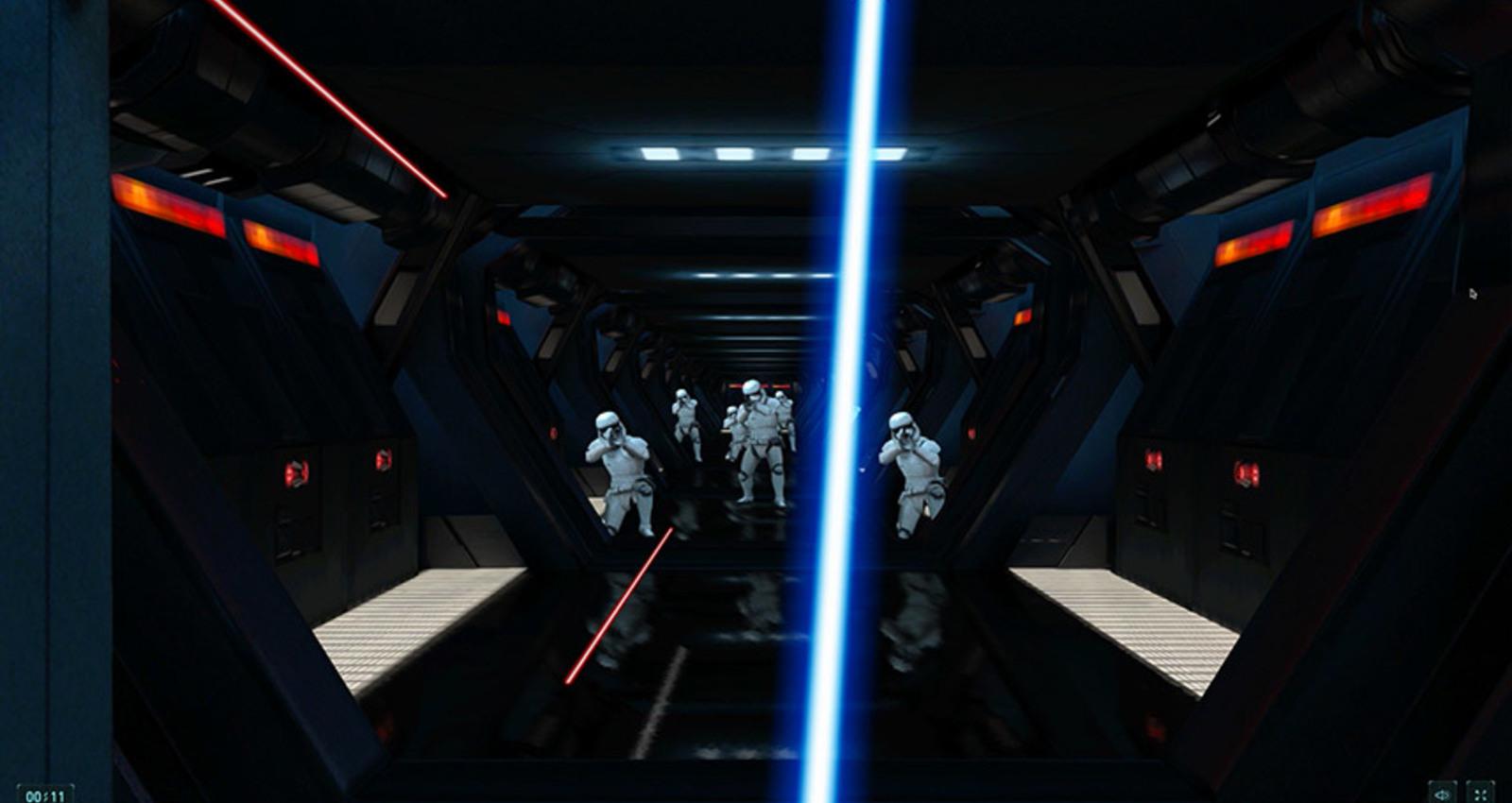 Lightsaber Escape: A Chrome Experiment