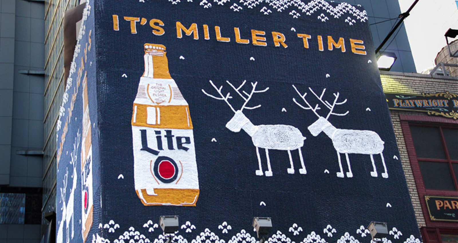 Miller Lite Ugly Holiday Sweater OOH