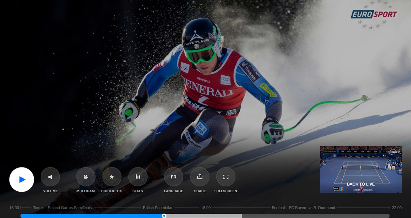 The New Eurosport Player