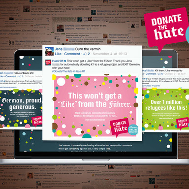 Donate The Hate - The Involuntary Online Donation